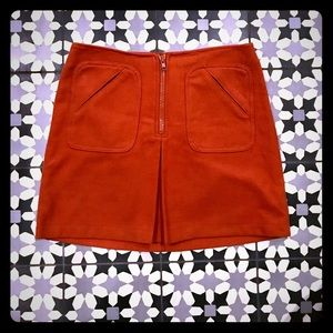 Adorable Gap wool skirt in orange size 6